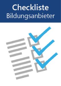 Titelbild Checkliste Bildungsanbieter